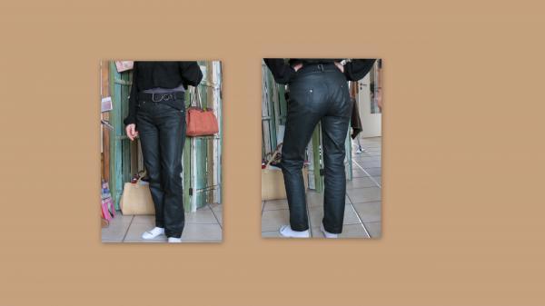 jean coton huilé