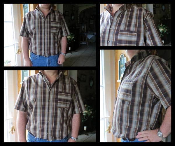 chemisette à carreaux