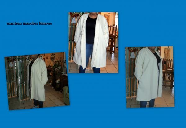 manteau manches kimono
